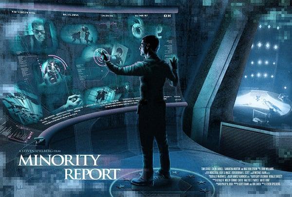 Minority Report via alternativemovieposters